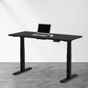 AOKE EUROPE - Hev og senk elektrisk skrivebord med kontrollpanel - Høy kvalitet - EKSKLUSIV NYHET - Kan løfte opp til 100KG - SORT