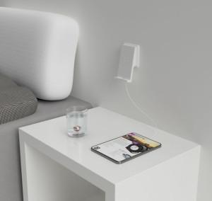 2HOME.NO Veggmontert LED Lampe med TOUCH dimmer MATT HVIT