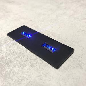 ASA INTERNATIONAL - VersaPick Rectangular – 2 USB 5V / 2A - MATT SORT